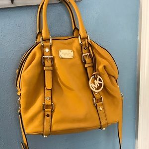 Mustard yellow Authentic Michael Kors Hand bag